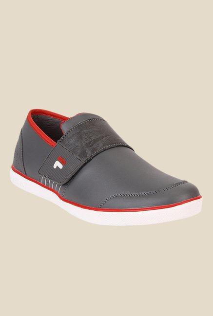 65c018cf1e18 Buy Fila Rock In Grey   Red Casual Slip-Ons For Men Online At Tata CLiQ