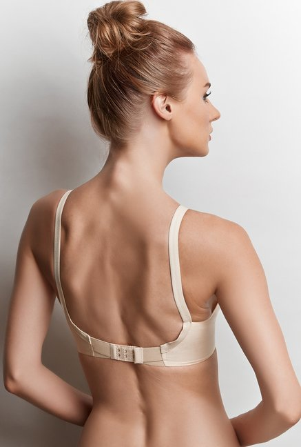 Libertina Beige Pearl Non-wired Bra