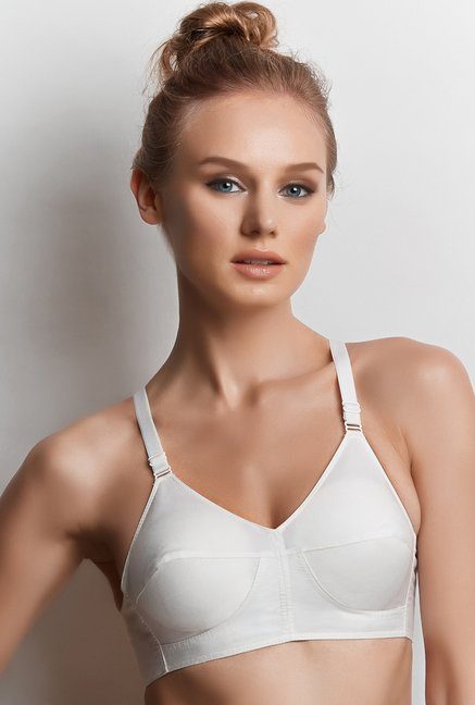 Libertina White Pearl Non-wired Bra