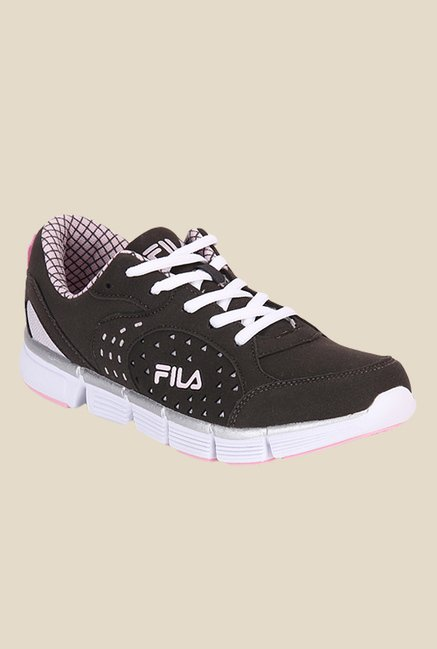 50bd96a086fb Buy Fila Dove III Dark Grey   Pink Running Shoes For Women Online ...