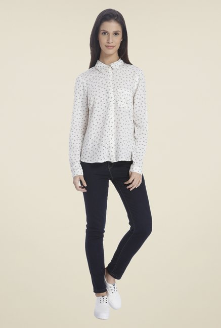 Vero Moda White Printed Shirt