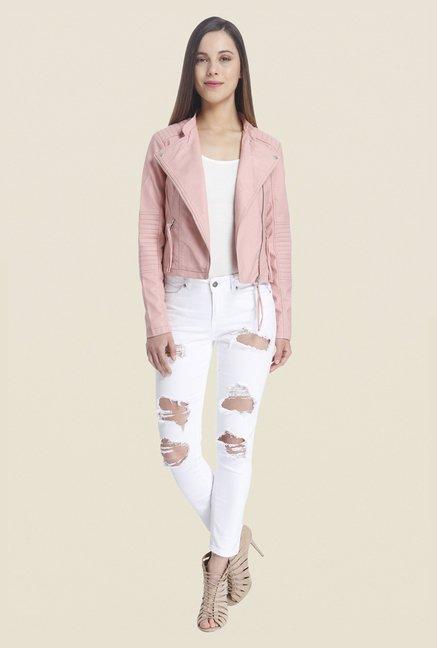 4702a1cc86a70 Buy Vero Moda Pink Solid Jacket For Women Online At Tata CLiQ
