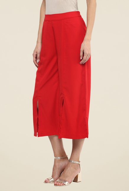 Fusion Beats Red Solid Culottes