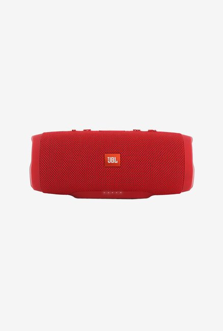 JBL Charge 3 Portable Bluetooth Speaker, Red