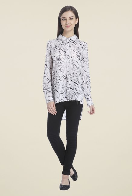 d695f79e342 Buy Only White Printed Shirt for Women Online   Tata CLiQ