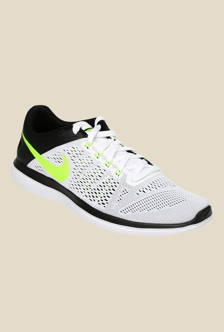 32dc7d54b41 Buy Nike Flex 2016 RN White Running Shoes For Men Online At Tata ...