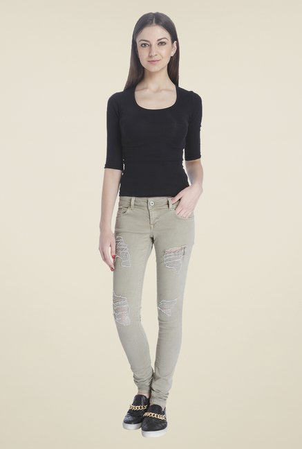 Only Olive Skinny Fit Jeans