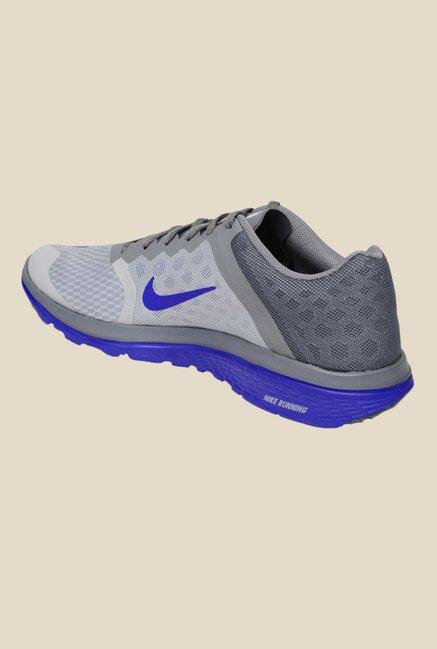 Nike FS Lite Run 3 Grey & Blue Running Shoes