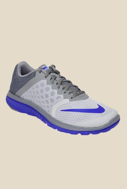 super popular ee822 ad2ab Buy Nike FS Lite Run 3 Grey & Blue Running Shoes For Men ...