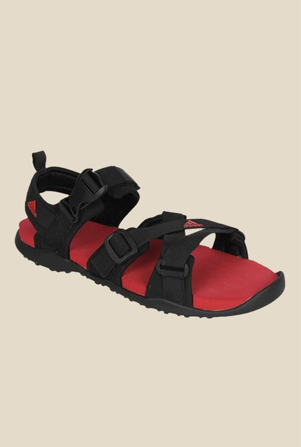 54eca26398f5 Buy Adidas Gladi Black Floater Sandals For Men Online At Tata CLiQ