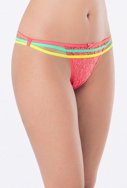 PrettySecrets Pink & Purple Thong Panties (Pack of 2)