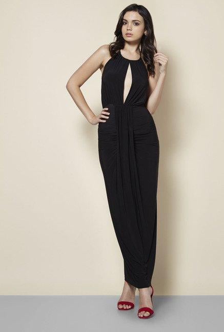 75fc1f82930 Buy Boohoo Black Maya Dress For Women Online At Tata CLiQ