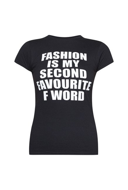 d5e8bccd29 Buy Boohoo Black Alice Fashion Slogan Print T Shirt For Women Online ...