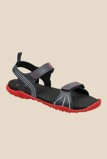 cf6936e3819f Buy Adidas Hewis Black Floater Sandals for Men at Best Price   Tata CLiQ