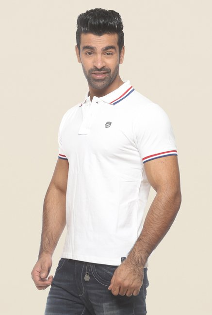 Pepe Jeans White Solid Polo T Shirt