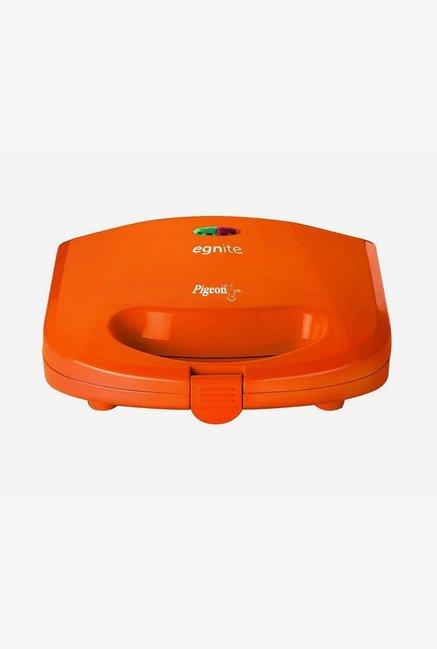 Pigeon Egnite 750 W Sandwich Grill Toaster (Orange)