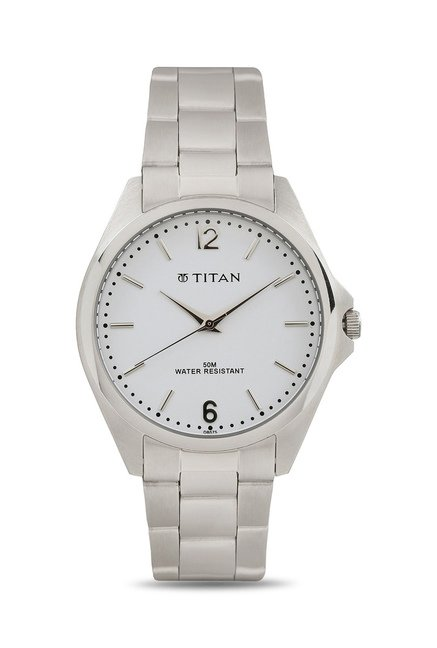 Titan NH9439SM02J Formal Steel Analog Watch for Men