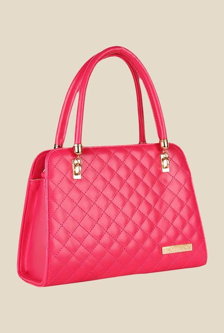 Lino Perros Pink Leather Trapeze Handbag
