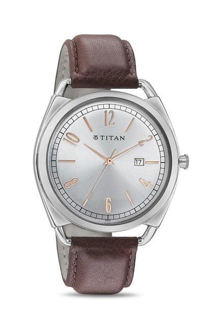 Titan 1675SL01 Classique Retro Analog Watch for Men