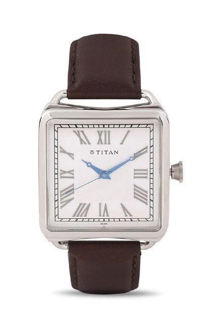 Titan 1676SL01 Classique Retro Analog Watch for Men