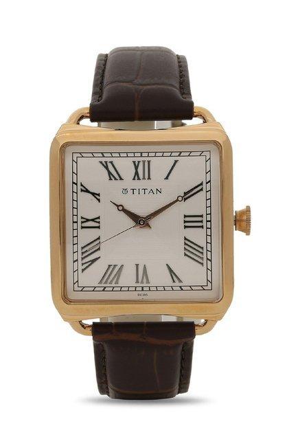 Titan 1676WL01 Classique Retro Analog Watch for Men