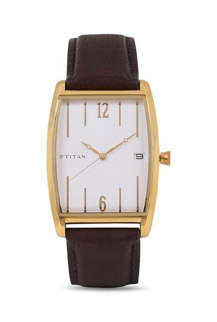 Titan 1677YL01 Classique Retro Analog Watch for Men