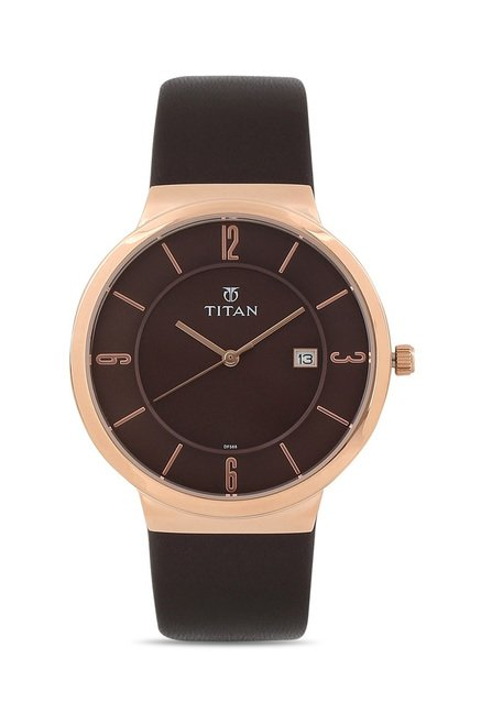 Titan 90053WL01J Classique Slimline Analog Watch for Men