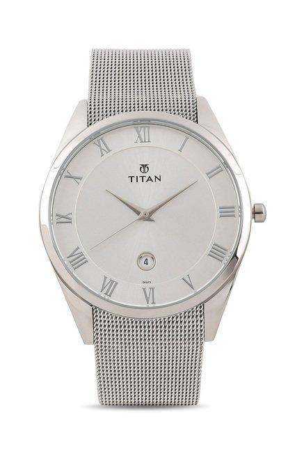 Titan 90054SM01J Classique Slimline Analog Watch for Men