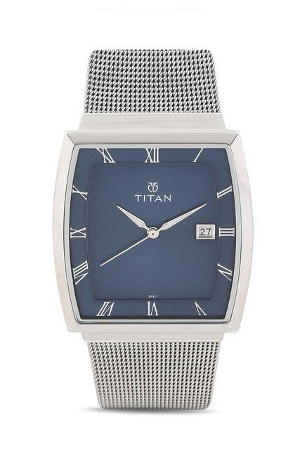 Titan 90076SM02J Classique Slimline Analog Watch for Men