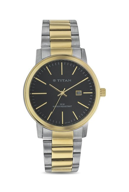 Titan 9440BM01J Formal Steel Analog Watch for Men