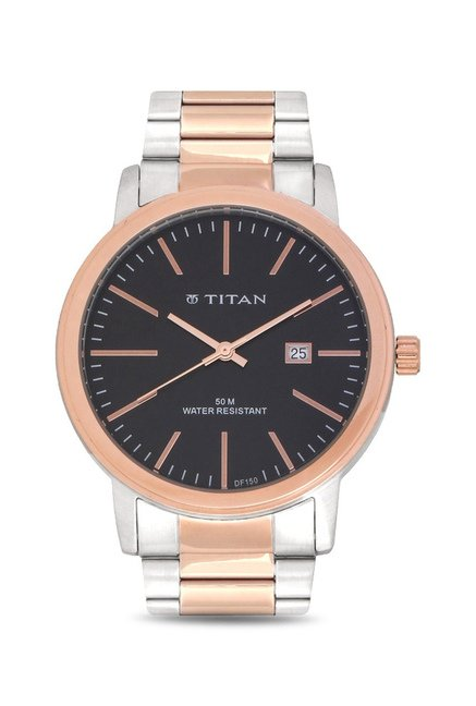 Titan 9440KM01J Formal Steel Analog Watch for Men