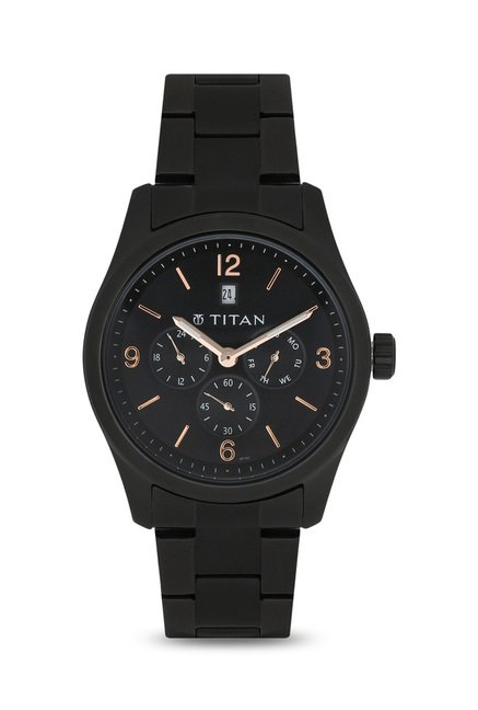 Titan 9493NM01J Formal Steel Analog Watch for Men