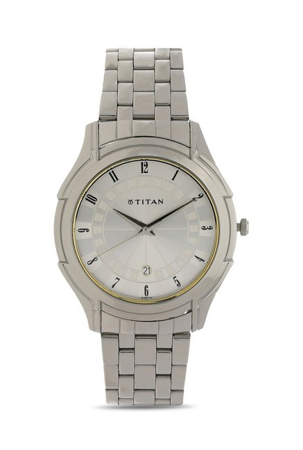 Titan NE1558SM01 Formal Steel Analog Watch for Men