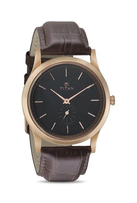 Titan 1674WL01 Classique Retro Analog Watch for Men
