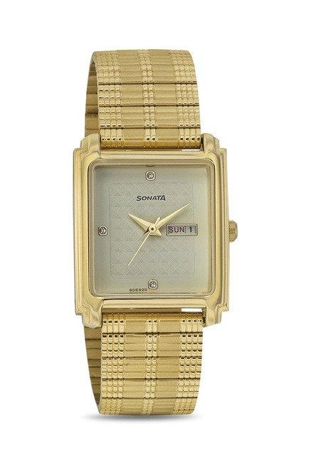 Sonata 7053YM08 Wedding Analog Watch for Men