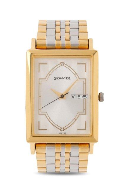 Sonata 77003BM01 Wedding Analog Watch for Men