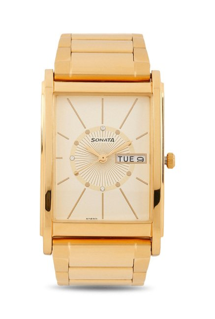 Sonata 77002YM05 Wedding Analog Watch for Men