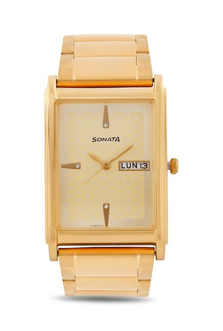 Sonata 77002YM06 Wedding Analog Watch for Men