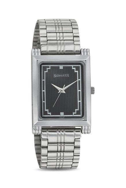 Sonata 77036SM01J Wedding Analog Watch for Men