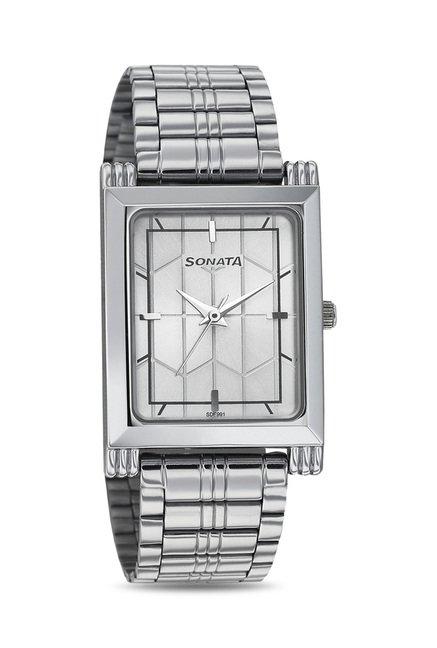 Sonata 77036SM02J Wedding Analog Watch for Men