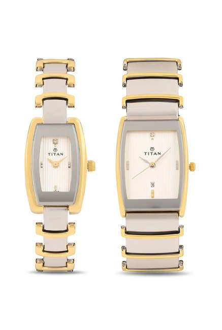 62f4517def Buy Titan NH13772385BM01 Pair Bandhan Analog Couple Watch at Best ...