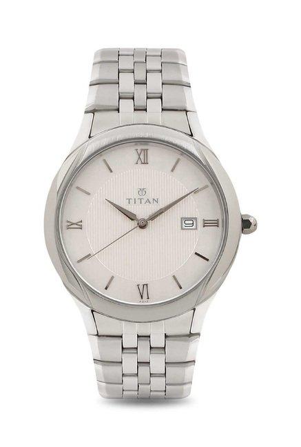 Titan NH1494SM01 Formal Steel Analog Watch for Men