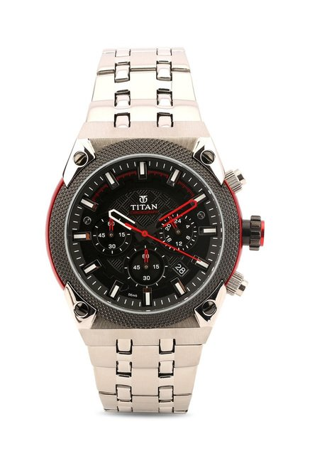 Titan 90030KM01 Octane Analog Watch
