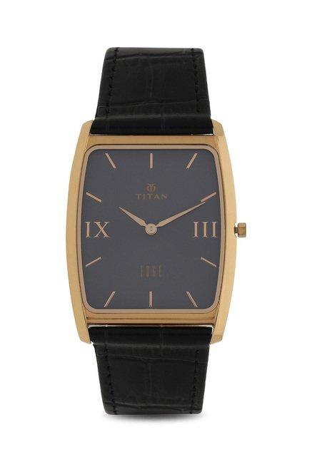 Titan Analog Grey Dial Men's Watch, 1596WL02