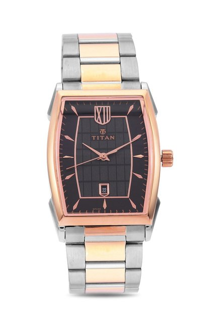 Titan NH1692KM01 Regal Crest Analog Watch for Men