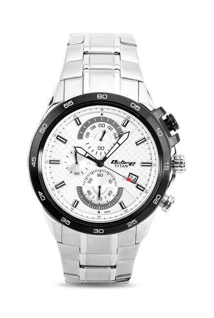 Titan 90046KM01J Octane Analog Watch for Men