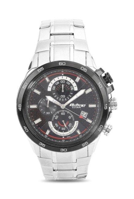 Titan 90046KM02J Octane Analog Watch for Men