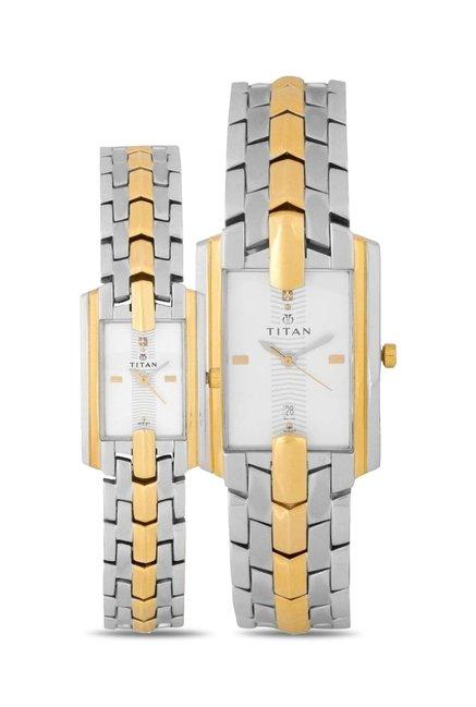 Titan NH19262926BM01 Pair Bandhan Analog Couple Watch