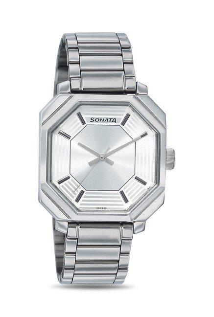 Sonata 7099SM01 Everyday Analog Watch for Men