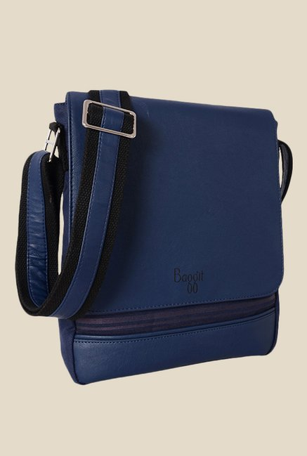 2d11ff4777 Buy Baggit Hawk Parina Blue Synthetic Sling Bag Online At Best Price   Tata  CLiQ